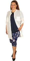 Que - Nice all-buttoned lace jacket/cardigan