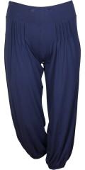 Q´neel - Casual Hosen mit hübsche Falte. Breit linning mit Elastik und auch elastischen Verschluss unten in den Beinen