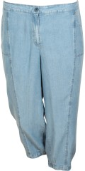 Q´neel - Denim denim stump pants in super soft quality with rubber band in the back