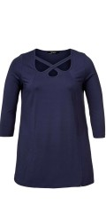 Q´neel - Smart blouse with 3/4 sleeves and in light a-shaped
