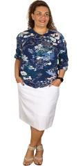 Cassiopeia - Rock blouse med 3/4 ærmer med smart hul i over armen