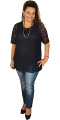 Q´neel - Lace blouse with short sleeves