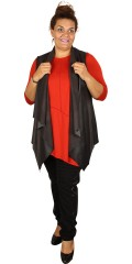 Q´neel - Tunica blouse with 3/4 sleeves and asymmetric lengths front and in the back