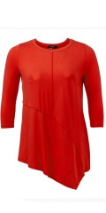 Q'neel - Tunica/blouse in quality viscose with 3/4 sleeves and asymmetric lengths front and in the back