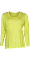 Que - Fine thin knit tunica/blouse with long sleeves and with round neck