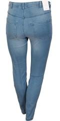 Zizzi - Denim jeans amy super slim jeggings med streck i två längdor