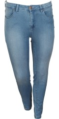 Zizzi - Denim jeans amy super slim jeggings med strech i to længder