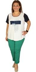 One More (Handberg) - Super flott t-shirt med korte ermer og trykk på forstykket