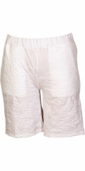 Handberg - Shorts with rubber band in whole the waist and embossed pattern