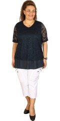 Zhenzi - Tunica in nice lace with short sleeves