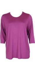 Handberg - T-shirt med 3/4 ærmer og rund hals