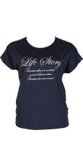 Adia - T-shirt med korte vinge ermer med opp smøg