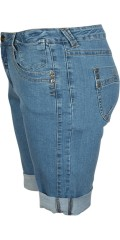 Studio - Bermuda denim shorts fit 55 med 5 lommer