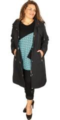 Frandsen  - Lang jakke med polyester for og hette