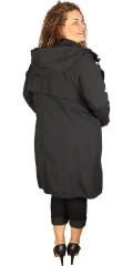 Frandsen  - Lång jacka med polyester foder och hätta