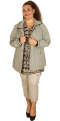Frandsen  - Stylish wind-and water-repellant jacket in suede look with polyester lining