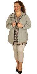 Frandsen  - Lekker vinn-og vannskyende jakke i semsket look med polyester for