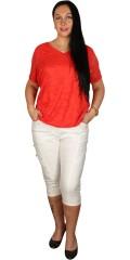 Zhenzi - Blonde t-shirt med fast syet foer og elastik i bunden