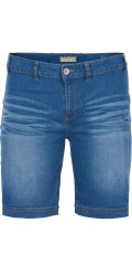 Zizzi - Shorts i lækker denim med strech