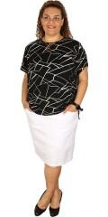 DNY (Marc Lauge) - Amalie t-shirt med rund hals og korte ærmer samt slids i nakken og begge sider
