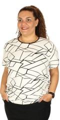 DNY - Amalie T-Shirt mit rund Hals und kurze Ärmeln sowie Verschleiss in Nacken und beide Seiten