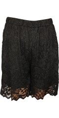 Studio - Lace shorts with rubber band in whole the waist and super strechy lace