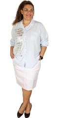 DNY (Marc Lauge) - Whitney skjorte med print i sølv farve