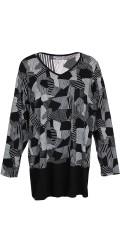Zhenzi - Lang t-shirt med grafisk mønster