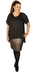 Zhenzi - Dress with short sleeves and v cutting