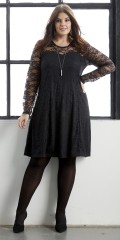 Zhenzi - Custom tailored lace dress with long sleeves