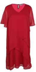 Zhenzi - Lag på lag chiffon kjole med korte ærmer