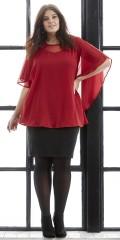 Zhenzi - Chiffon genser med slag på ryggen og hard sydd topp under