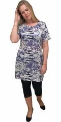 Cassiopeia - Wiola kjole med kort ærme og slidse i nakken