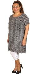 DNY - Thilla tunika med korte ærmer og bindebånd