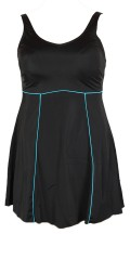 Mirou Swimwear - Nice bathing dress with turquoise pipings