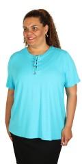 Cassiopeia - Pukaja t-shirt med korte ærmer og snøre stolpe lukning