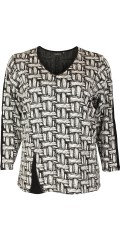 Handberg - Nice blouse in graphic pattern