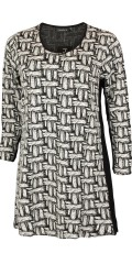 Handberg - Tunica dress with nice graphic pattern