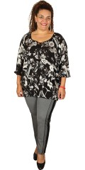 Studio - Lena rose shirt blouse with 3/4 sleeves
