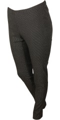 Gozzip - Strechy leggings with rubber band in whole the waist and with nice silver thread which gives a striped effect