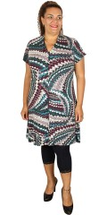 Cassiopeia - Hopla tunica dress with short sleeves and v cutting