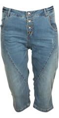 Cassiopeia - Nivi pirate bukser med rå slid, 5 lommer og bæltestropper