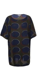 Zhenzi - Light oversize tunica with 3/4 sleeves and round neck and in super nice print