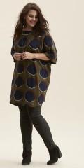 Zhenzi - Lätt oversize tunika med 3/4 ärmar och rund hals och i super vacker tryck