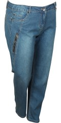 Zhenzi - Salsa pants normal fit jeans with stretch and adjustable rubber band in the waist