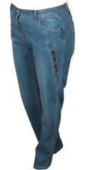 Zhenzi - Salsa denim pants normal fit jeans with stretch and adjustable rubber band in the waist