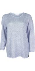 Zhenzi - Pullover in fein Strick mit lange Ärmeln und Rundhals