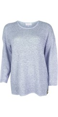 Zhenzi - Pullover i fin strik med lange ærmer og rundhals