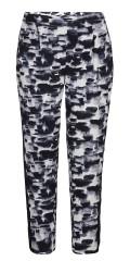 Zhenzi - Mjuk jersey byxor med gummiband i hela midjan och 2 sned fickor