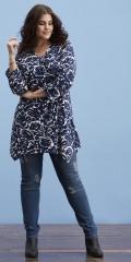 Zhenzi - Stomp denim jeans byxor med 5 fickor, hällor och justerbar gummiband i midjan